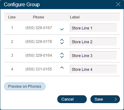 RingCentral Office Reference Guide Groups and Call Queues Shared Lines Settings The next step is to configure the group settings for Phones and Lines. 2 4 1. 2. 3. 4. 5. 6. 7. 8.