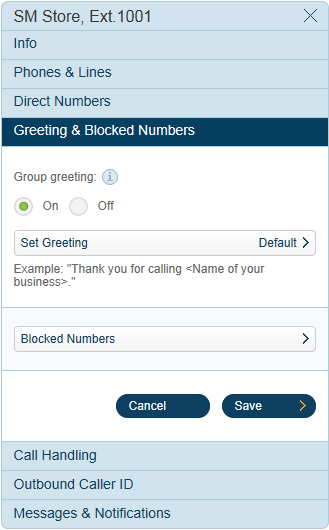 RingCentral Office Reference Guide Groups and Call Queues Shared Lines Settings Continue reviewing and/or changing the settings for your shared lines. 4a 4b 1. 2. 3. 4. 5. 6. 7.