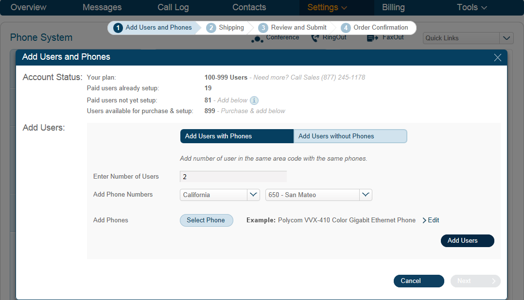RingCentral Office Reference Guide Settings for Admins and Users Add User Extensions and Phones Admins only You ll want to add new users to your RingCentral account as your business grows.