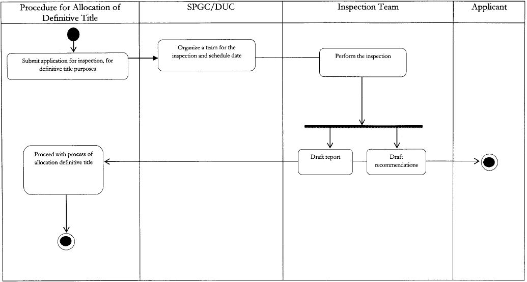 Flow Chart 3 Process for the inspection with the purpose of issuing the