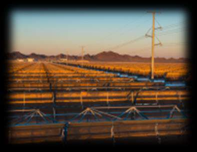 Key Project Highlights CSP Highlights Solana 280 MW (Arizona, US) 280 MW gross parabolic trough plant with thermal energy storage 6 hours storage using molten salts Clean electricity sufficient to