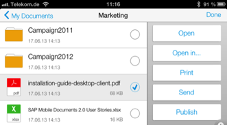 attachments Easily synchronize individual documents or complete folders Share
