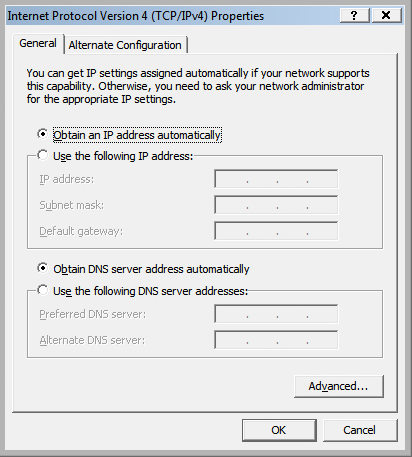 2-2-2. Windows Vista IP address setup: A.