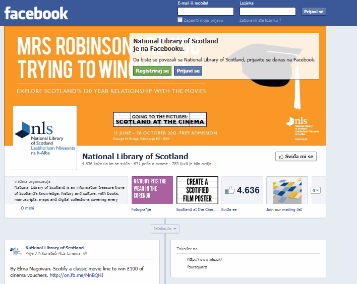 42 http://www.facebook.com/nationallibraryofscotland?v=wall http://lawlibraries.ning.