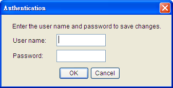 Figure 3. The authentication window. 8.