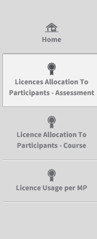 3. Using the Erasmus+ OLS back-end features In this section the main functionalities of the Erasmus+ OLS back-end are explained: 3.1. Allocating assessment licences to participants, 3.2.