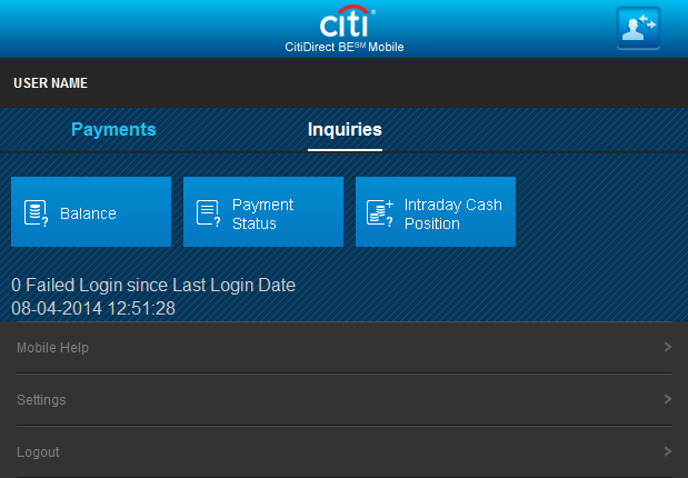 5 Home page User first and last name (Company Name) Linking between the Client Profiles Authorize import run Batch Authorization/Release of Payments for batches created previously on the online