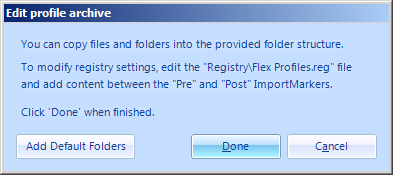 5.4 Editing a profile archive If you want to check exactly which settings were saved in a profile archive, or want to modify settings, you can use Edit profile archive (provided it is enabled in the