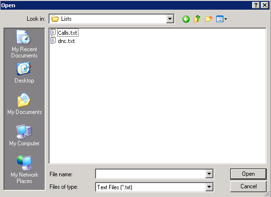 The data files need to be copied in the (C:\SPD Enterprise\Lists) folder of the dialer.