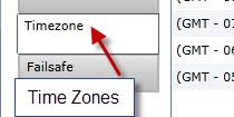91 CREATING A NEW CAMPAIGN The next option in the settings is the Time zone tab. To select a Time Zone setting to add to the campaign, click on the arrow on the Available Time zone window.