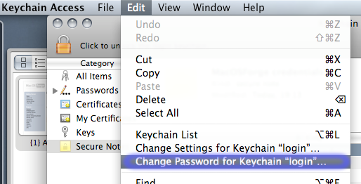 2 Change your Keychain password and settings I asked John Gruber what changes he had made to his Mac OS X configuration with respect to security.