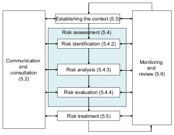 F3. Risk Management Process model depicted