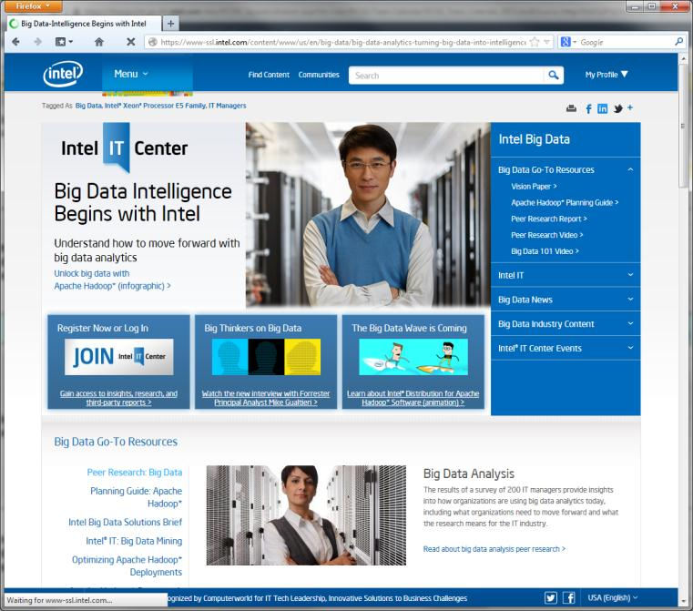 Want more information? hadoop.intel.