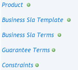 5.2 Business SLAT 5.2.1 Publish This option allows the user to create and publish a Business SLA template.