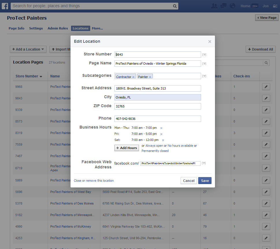 Facebook 21% have executed the FREE Facebook Locations tool for franchisors (formerly