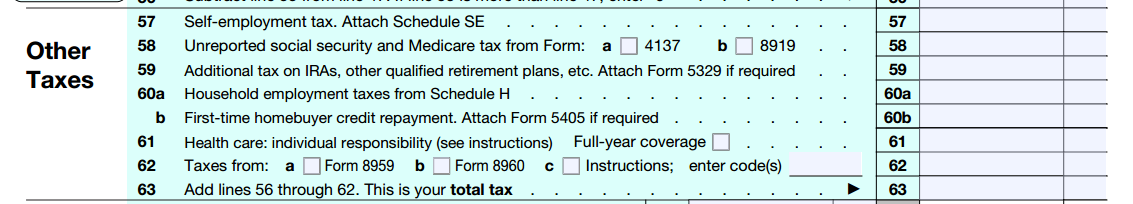 Minimum Essential Coverage Starting January 1, 2014, most people must maintain MEC and report that they have MEC on their tax returns. On Form 1040, this is reported on Line 61 (see Figure 4).
