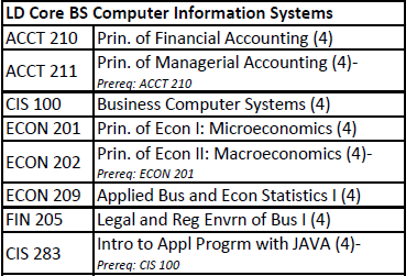 B.S. Computer Information