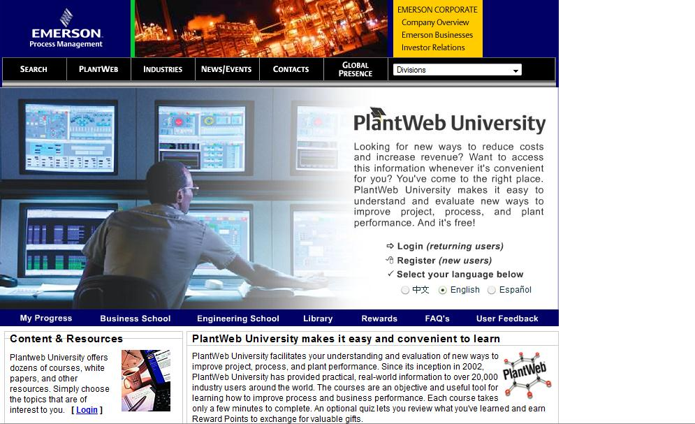 users Business School offers courses on how to improve plant efficiency, etc.