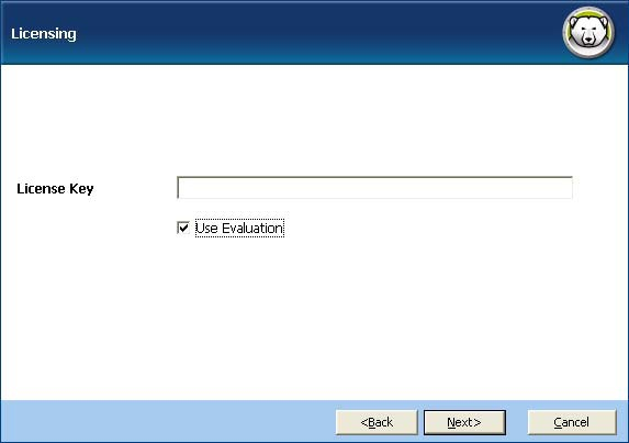 Evaluation check box to install Deep Freeze in Evaluation mode.