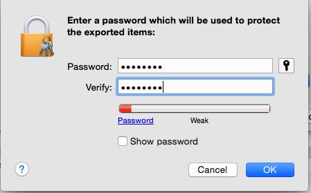 In the next screen you have the option to enter a password.