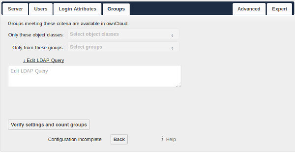 only those object classes: owncloud will determine the object classes that are typically available for group objects in your LDAP server.