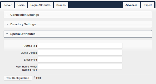 Group Member association: The attribute that is used to indicate group memberships, i.e. the attribute used by LDAP groups to refer to their users. owncloud detects the value automatically.