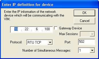 Fill in the Device parameters as follows: a. Device Address 1-254. This is the PLC address of the device, which must be the same as the device address configured in the DeltaV Explorer for the device.