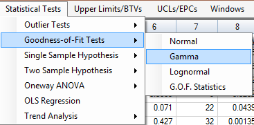 Chapter 8 Gdness-f-Fit (GOF) Tests fr Uncensred and Left-Censred Data Sets The GOF tests are available under the Statistical Test mdule f PrUCL 5.0. Thrughut this User Guide and in PrUCL 5.