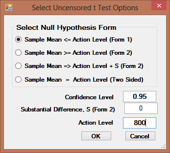 9.1.1.1 Single-Sample t-test 1. Click Single Sample Hypthesis Full (w/ NDs) t-test 2. The Select Variables screen will appear. Select variable(s) frm the Select Variables screen.