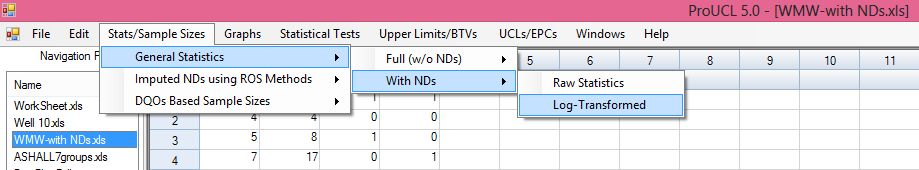 Lg-Transfrmed Statistics 4. The General Statistics screen (and all ther utput screens generated by ther mdules) shwn abve can be saved as an Excel 2003 (.xls) r 2007 (.xlsx) file.
