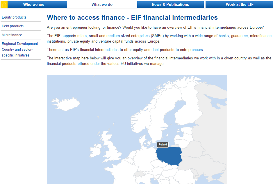 EIF search tool European