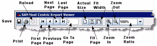 Viewing Reports After you generate the specified report, an embedded viewer opens (Figure 7-2) and shows the report for you to
