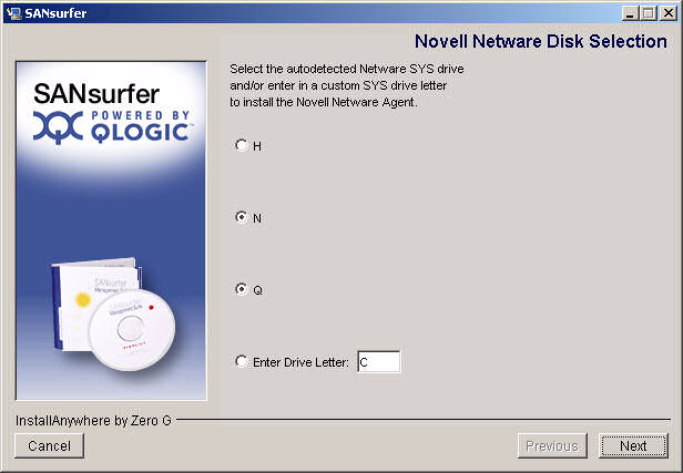 5 Installing ANsurfer FC HBA Manager Initial Installation Figure 5-11 Install ANsurfer: Installing ANsurfer If you are installing NetWare,