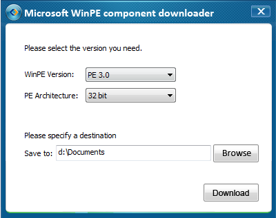 How to create WinPE emergency disk when failed to download WinPE component automatically Usually, if the operating system contains WinPE component already, then EaseUS Todo Backup will directly