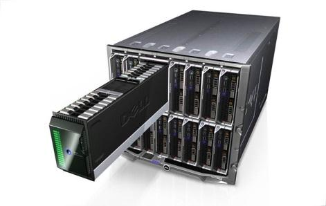 EqualLogic Blade Array Ecosystem Design Drawer in Drawer Double-wide, half-height storage blade Operate/interoperate with servers inside/outside chassis Components Dual, hot-pluggable 10GbE