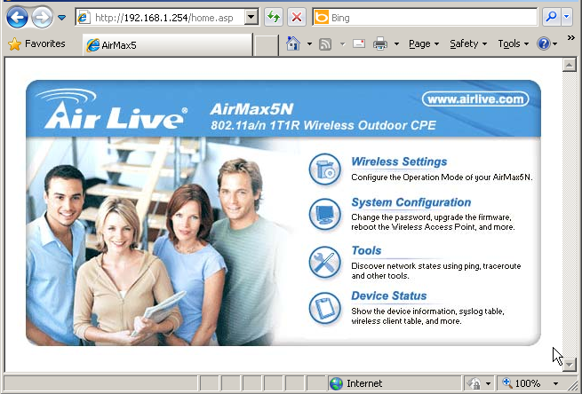 3. Configuring the AirMax5N You are ready now to configure the AirMax5N using your PC. 3.