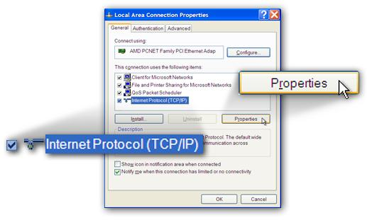 Ensure that Obtain an IP address automatically