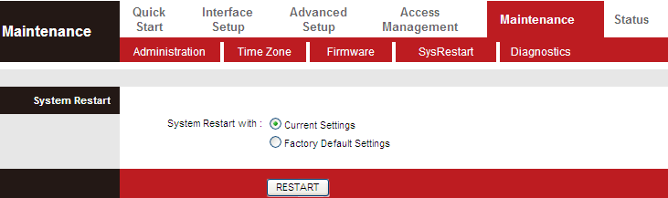 The following table describes the parameters of this page: Field New Firmware Click Browse to select the firmware file.