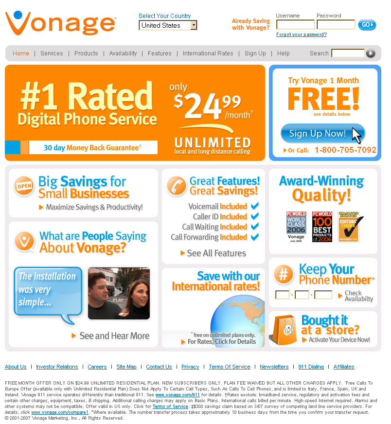 Exemplary Audit Report vonage.com Prepared by Robert Drózd on 15 July 2007. Reviewed and published on 11 October 2009. For more information, see: www.webaudit.