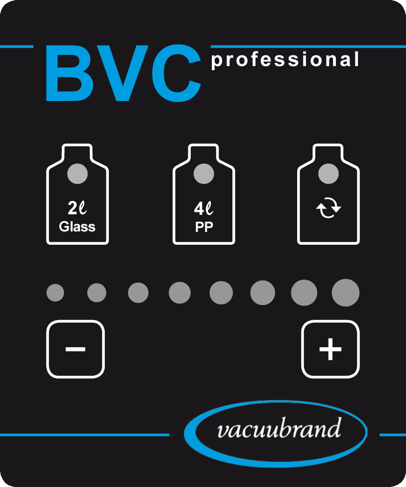 page 24 of 68 Operation BVC professional / BVC professional G Do not press the keys. Only touch the keys of the touch panel. The keys + and - have to be touched > 0.25 seconds to be actuated.