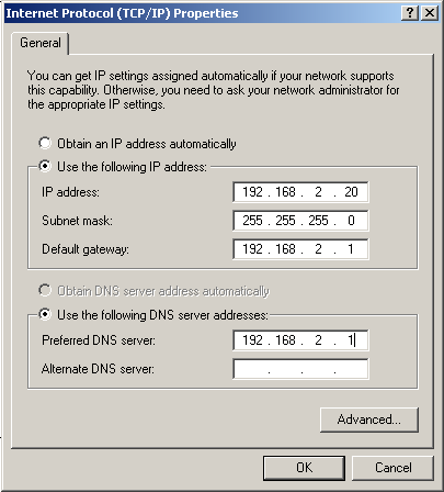 CONFIGURING THE CLIENT PC Manual IP Configuration 1. Follow steps 1-4 in DHCP IP Configuration on page 3-3. 2. Select Use the following IP address automatically radio button.