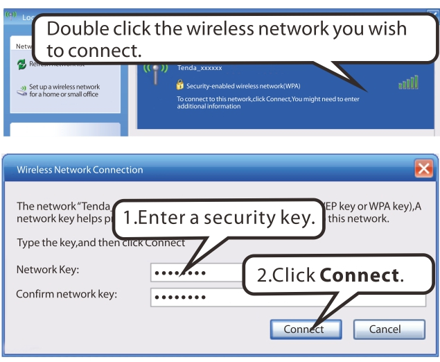 Appendix 2 Join Your Wireless Network Windows XP a). Click Start-> Settings -> Control Panel; b).