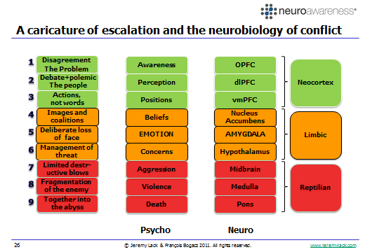 Figure 9: Possible brain regions that may become more prevalent at each of Glasl s 9 Steps Although it is preposterous and scientifically impossible to accurately characterize the green, orange or