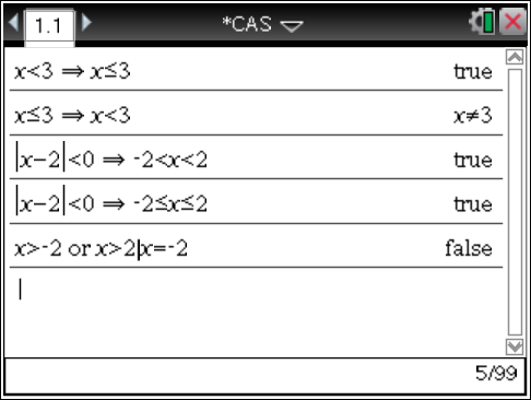 4. New CAS functionality The CAS functionality of TI-Nspire CAS (including TI-Nspire CX CAS handhelds, TI-Nspire CAS Student Software and TI-Nspire CAS Teacher Software) is extended with the domain