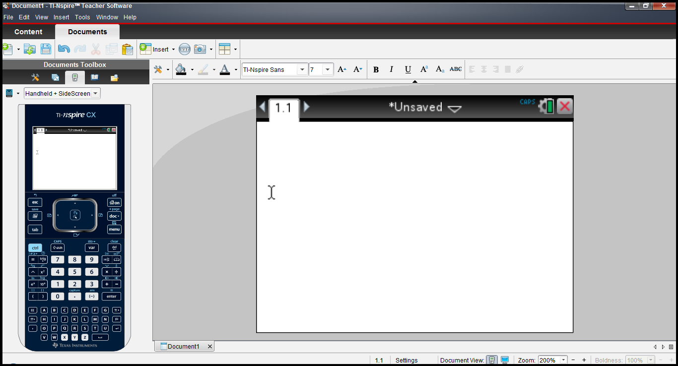 This toolbar contains access to the application menus and text formatting options.