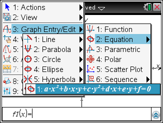 the coefficients of the equation. Use the tab button or the arrow buttons to move from one field to another within the template. Linear Equation Template Linear Equation Graphs and Function 1.