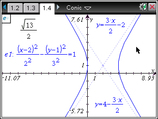 Some examples: The Analyze Graph tools are extended with the following specifically for conics: The context menu for a conic graph also provides access to only the Analyze Conics functions supported
