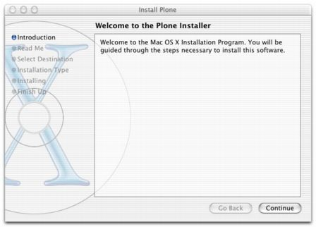 24 Figure 2-10. Welcome to the installer. The installer goes through the usual steps for installing software.