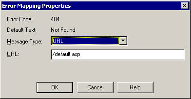 291 Figure 10-7. Accessing a site s properties In the properties, select the Custom Errors tab, and scroll down until you find the error for 404.