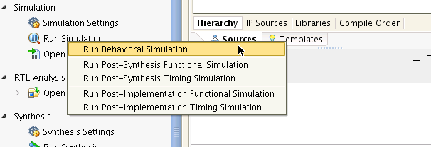 Simulation with Vivado Simulator Figure 27 Vivado Simulation Panel Figure 28 Vivado Simulation Settings Figure 29 PCIe